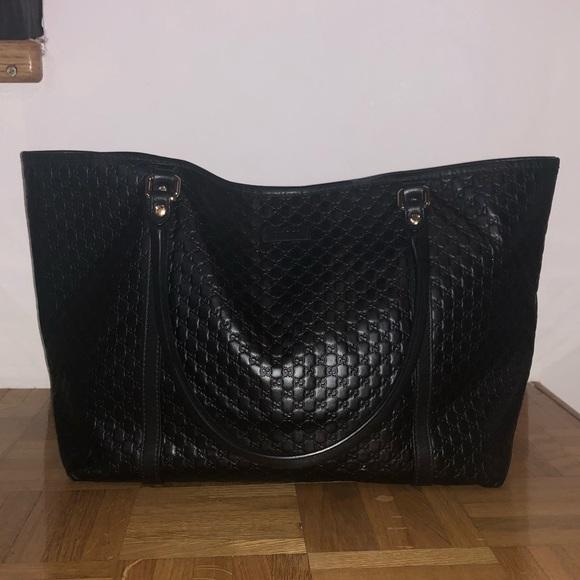 010c6350421 Gucci Handbags - Micro Guccissima Soft Margaux Black Tote 1000